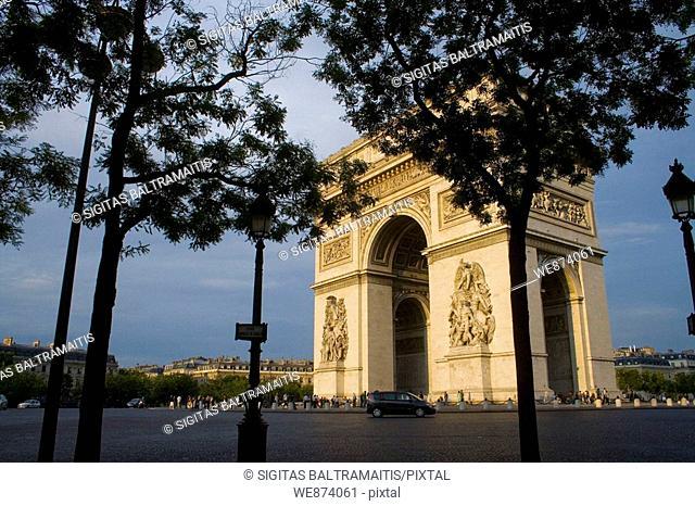 Arc de Triomphe, Paris, France August 2006