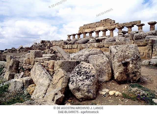 Ruins of the acropolis of the ancient city of Selinunte, Sicily, Italy. Greek civilisation, Magna Graecia, 6th-4th century BC