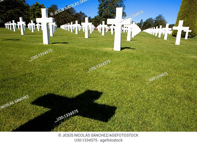 American cemetery in Colleville-sur-Mer  Normandy  France