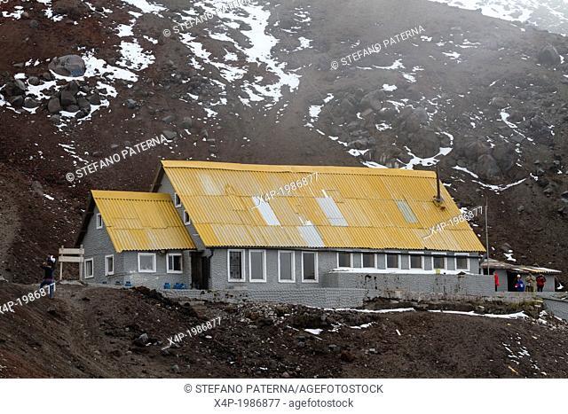 Jose Ribas Refuge at 4810 m Altitude, Cotopaxi Volcano, Cotopaxi National Park, Cotopaxi, Ecuador