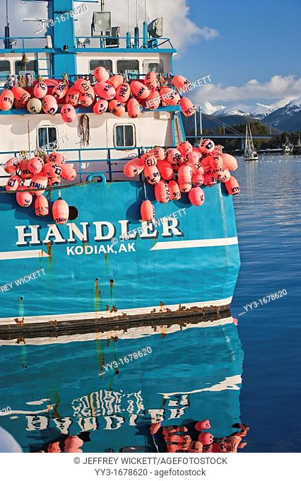 Sac roe herring fishery tender docked in Sitka, Alaska A tender is a large vessel that can best be thought of as a seafood taxi Harvesting activity often occurs...