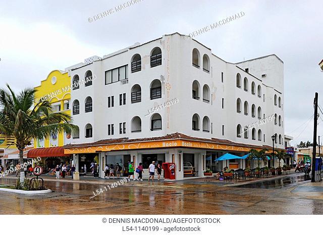Shopping area near Caribbean Cruise Ships in Puerta Maya and Cozumel Mexico