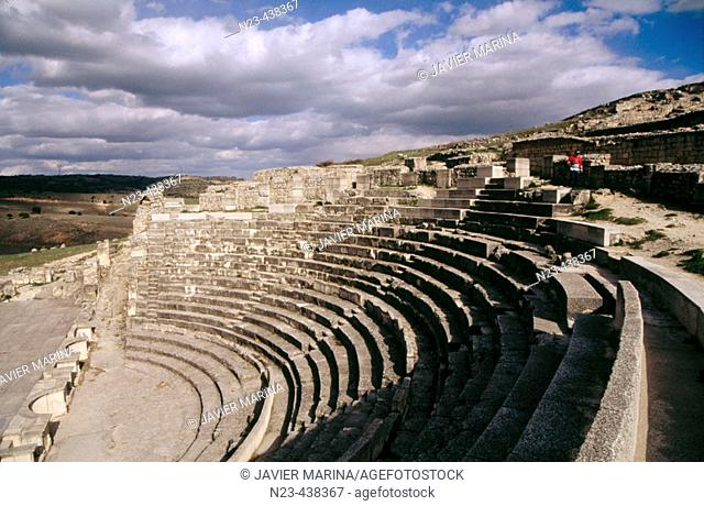 Roman theatre, Segobriga archeological site. Cuenca province, Castilla-La Mancha. Spain