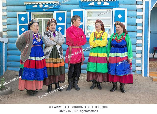 Bilina Folk Choir singers, from a 'heretical' offshoot of the Russian Orthodox Church known as the Old Believers, in Tarbagatai, Buryatia, Siberia, Russia