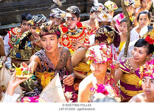 Balinese people, Odalan temple festival, Sidemen, Karangasem, Bali, Indonesia