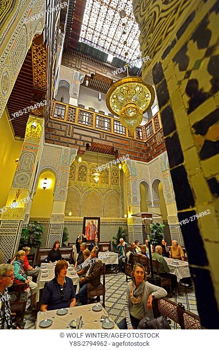 Hidden Riad Nejjarine, Medina, Fes, Middle Atlas, Morocco