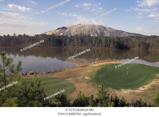 Atlanta, GA, Georgia, Georgia Stone Mountain Park, Stone Mountain Lake, golf course, Stone Mountain