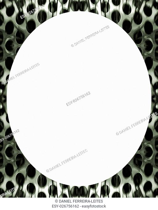 White background with decorated design borders