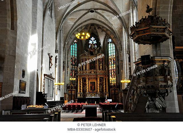 Germany, Saxony-Anhalt, Quedlinburg, market church, nave