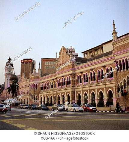 Sultan Abdul Samad Building in Kuala Lumpur in Malaysia in Southeast Asia Far East. Designed in 1894 by A C Norman to house several important government...