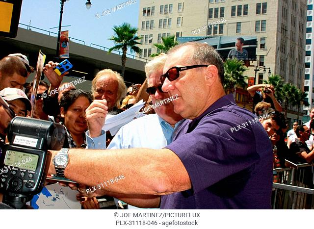 Ed O'Neill signing autographs for fans at the Hollywood Chamber of Commerce ceremony to honor him with a star on the Hollywood Walk of Fame in Hollywood, CA