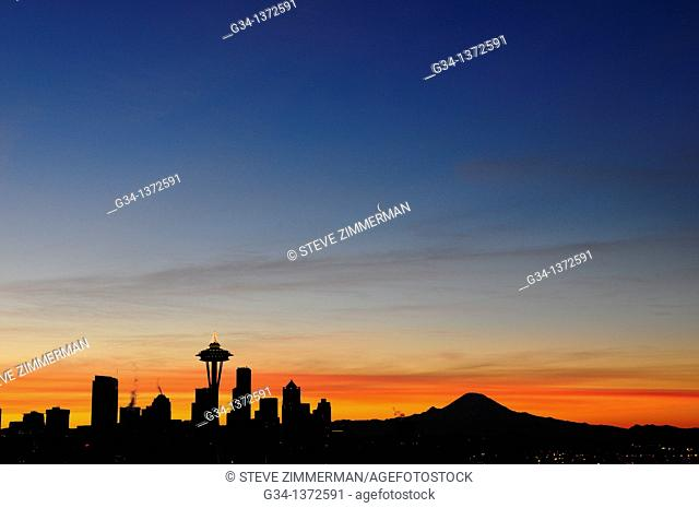Seattle Skyline at Dawn 2