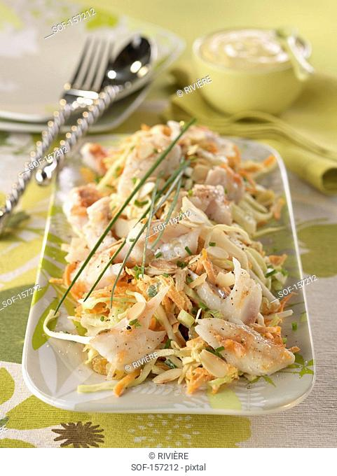 Cold cabbage and cod