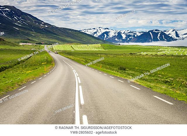 Summertime Route One or The Ring Road, Eyjafjordur, Northern Iceland