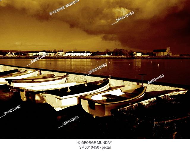 Rowing Boats at The Lookout, Dungarvan, County Waterford, Ireland