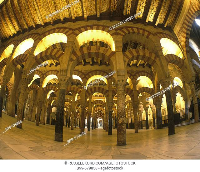 Arches, Mosque Of The Caliphs, Cordoba, Andalusia, Spain