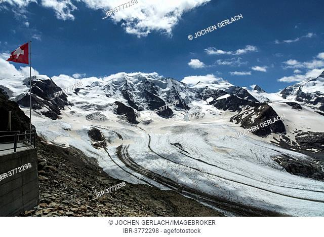 Pers Glacier or Vadret Pers on Piz Palue Mountain, Canton of Grisons, Switzerland