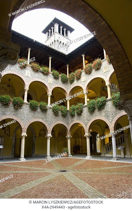 Courtyard of City Hall in Bellinzona