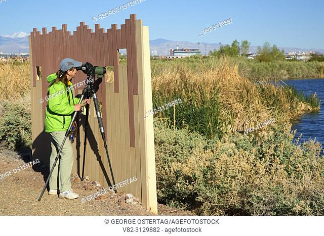 Birding blind, City of Henderson Bird Viewing Preserve, Nevada