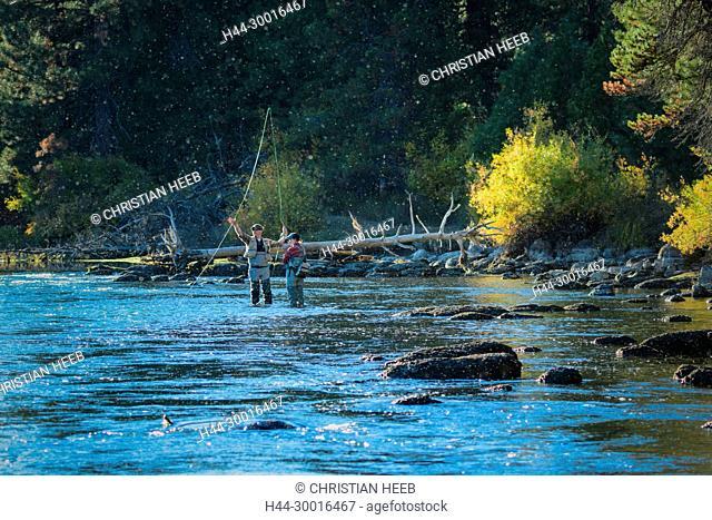 North America, USA, Central Oregon, Oregon, Deschutes river at Dillon Falls