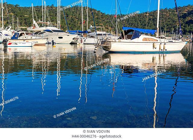Aegean sea harbor, Fethiye, Mugla Province, Turkey