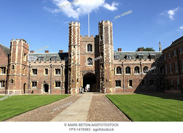 First Court and Front Gate of St Johns College Cambridge