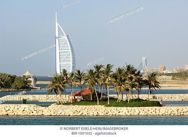 Burj al Arab in Dubai, deluxe hotel, Dubai, United Arab Emirates, UAE, Middle East
