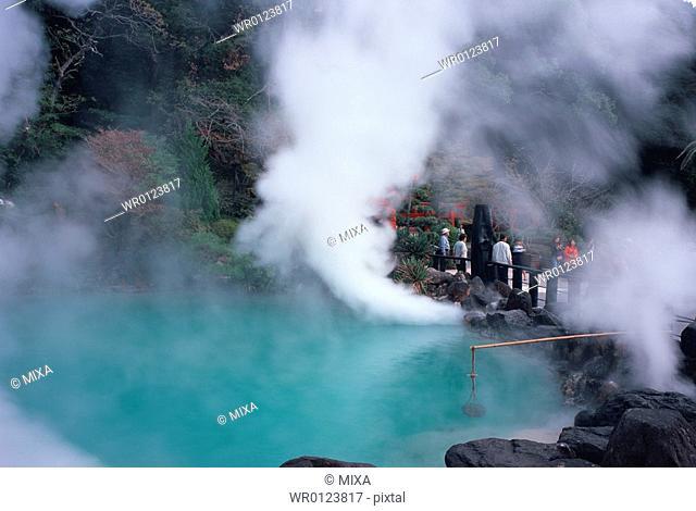 Umi Jigoku, Beppu, Oita Prefecture, Japan, Onsen, Hot Springs