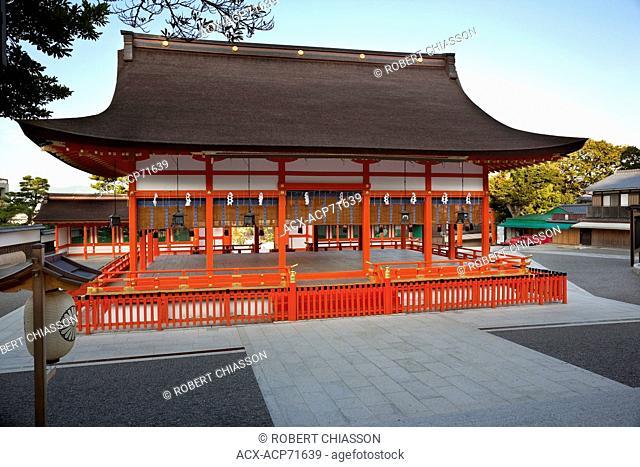 Outer hall of worship (gai-haiden) at Fushimi Inari Shrine in Kyoto, Japan