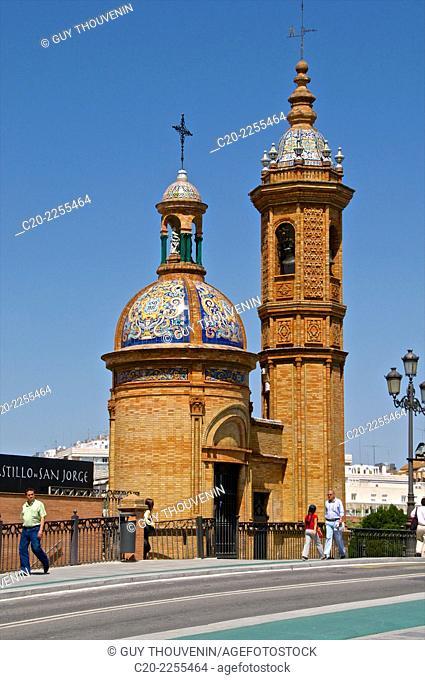 Castillo de San Jorge, Saint George's Castle, Sevilla, Andalusia, Spain