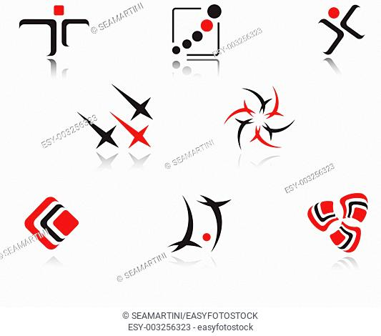 Set of isolated symbols for branding designers
