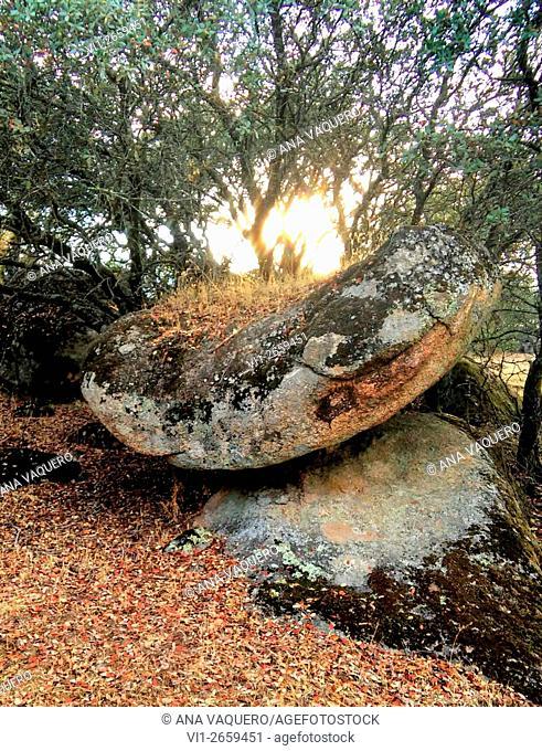 Prehistoric altar, Cancho Gordo, near Escurial, Extremadura, Spain