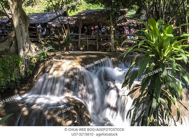 A small waterfall at the village of the Karen hilltribe in Chiang Rai, Thailand
