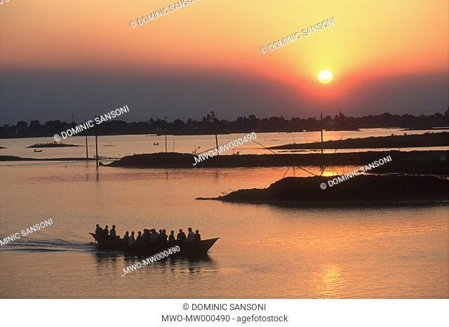Sunset in the outskirt of Dhaka, Bangladesh