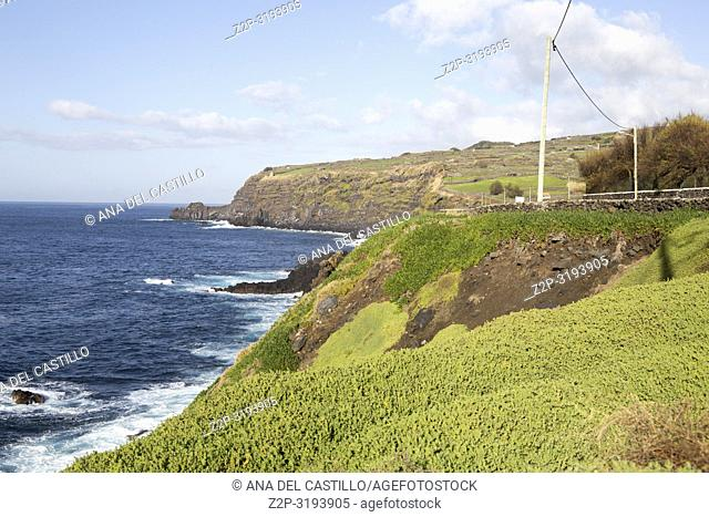 Cinco Ribeiras coast in Terceira island Azores Portugal