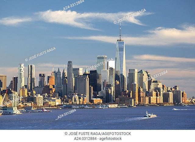 USA, New York City, Manhattan, Downtown Manhattan, World Trade Center Bldg