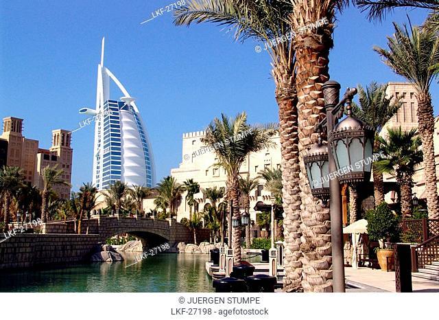 Madinat Jumeira and Burj al Arab, Dubai, United Arab Emirates, UAE
