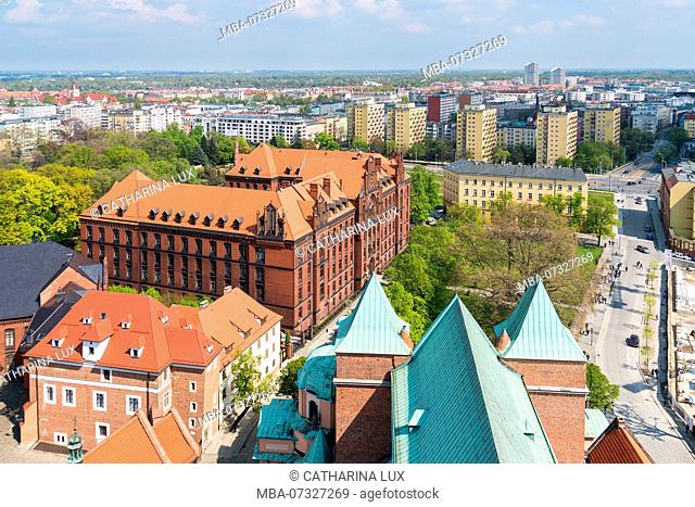 Poland, Wroclaw, Cathedral, view from North Tower northwards