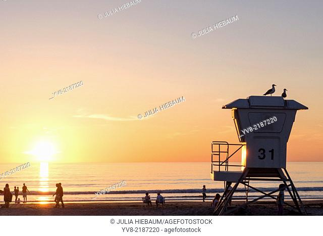 Lifeguard post at La Jolla Shores beach, California