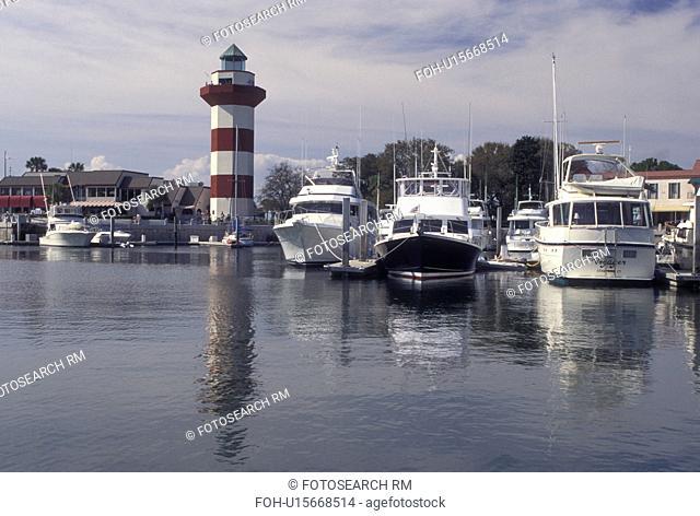 Hilton Head, SC, South Carolina, Marina and Lighthouse at Harbour Town Yacht Basin on Hilton Head Island