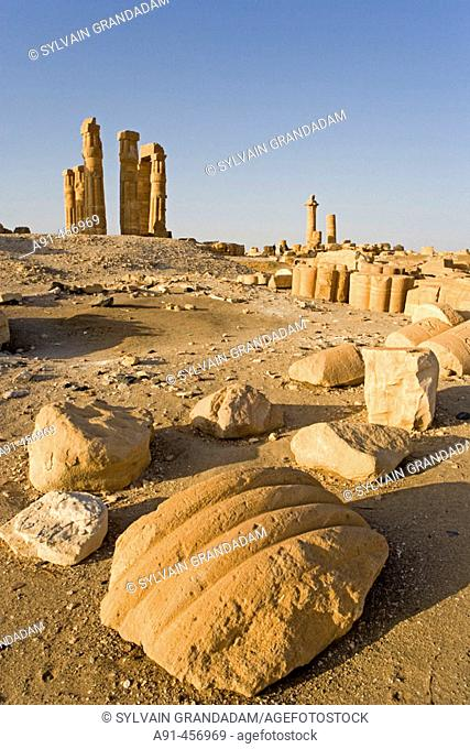 Temple of Soleb, built during the reign of Amenophis III. Upper Nubia, ash-Shamaliyah state, Sudan