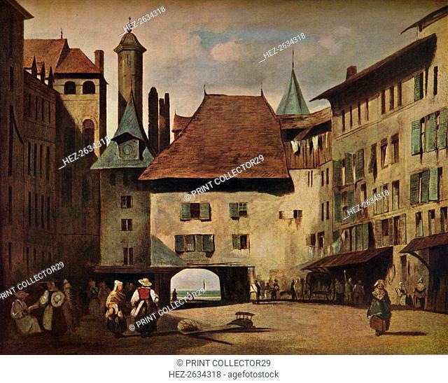 'La Place du Molard, Geneva,' c1830. Artist: Richard Parkes Bonington