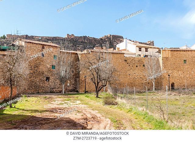 Murallas y Castillo, City Walls and Castle, Cañete, Cuenca province, Castile la Mancha, Spain. Historic and Artistic Heritage