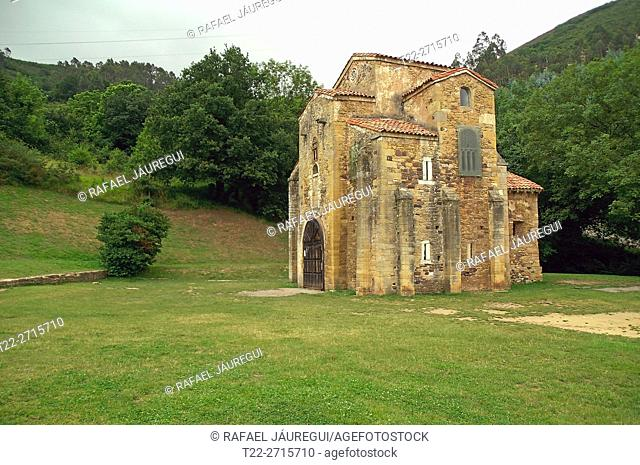 Oviedo (Spain). Romanesque church of San Miguel de Lillo on the outskirts of the city of Oviedo