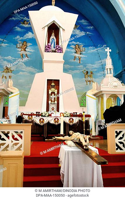 Our Lady of lourdes metropolitan cathedral established in 1887 in Thrissur Trichur ; Kerala ; India