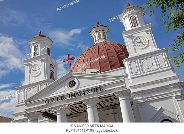 Protestant church in Western Indonesia Immanuel Semarang / Blenduk Church / Gereja Blenduk in Semarang, Central Java, Indonesia