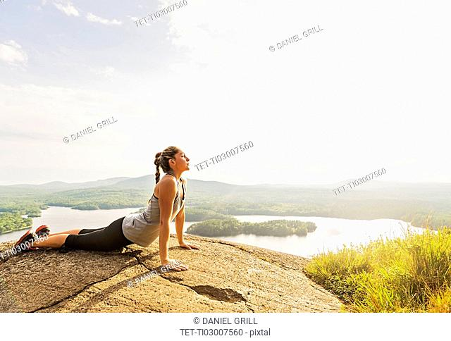Young woman exercising outdoor