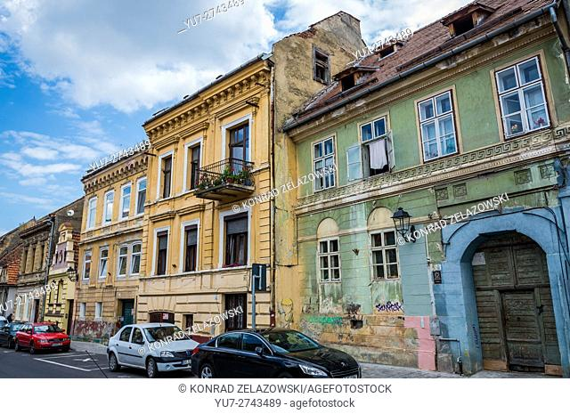 Tenement houses at Castelului Street in Brasov, Romania