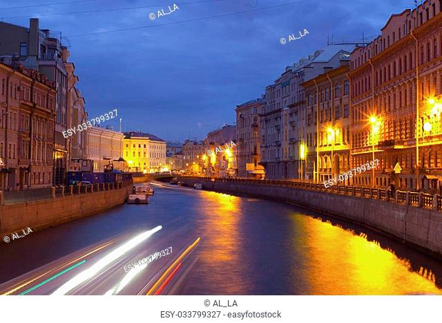 Night city. Canals of St. Petersburg