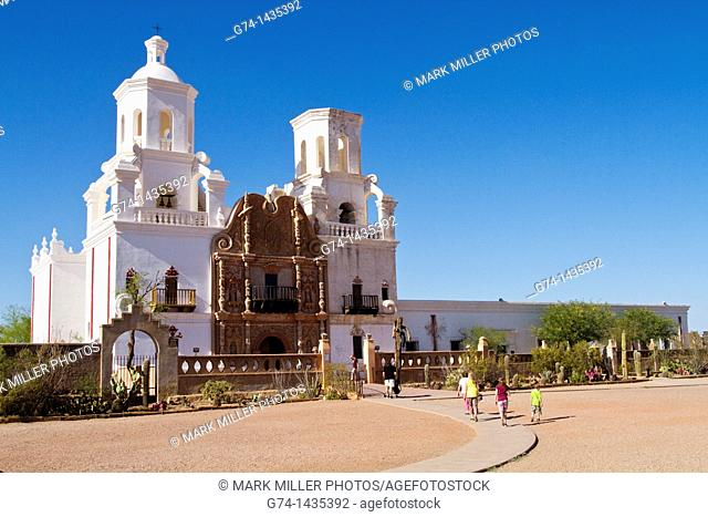 Mission San Xavier del Bac- historic Spanish Catholic mission founded in 1692 by Jesuit missionary Eusebio Francisco Kino 10 miles south of downtown Tucson